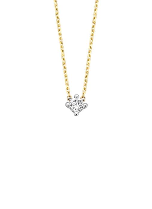 Diamond Point Starlight necklace in 14 karat yellow and whitegold