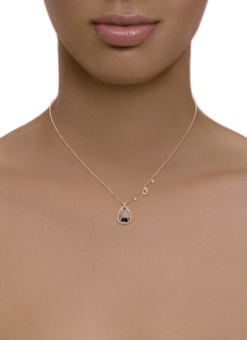 Diamond Point Roségouden collier 1.88 ct diamant Indian Summer