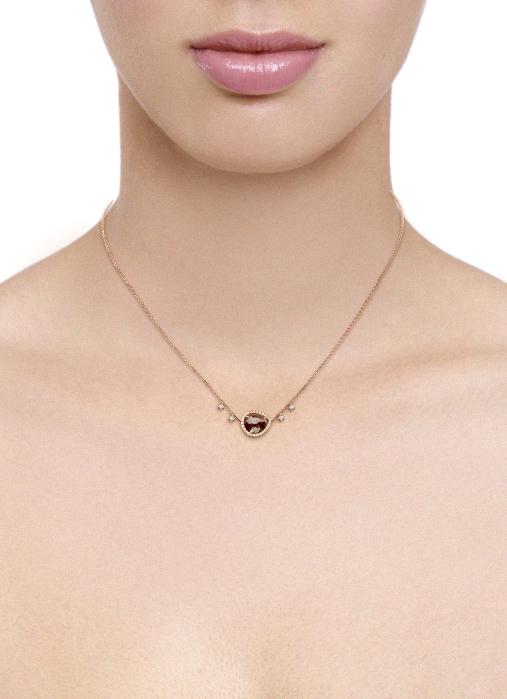 Diamond Point Roségouden collier 1.71 ct diamant Indian Summer
