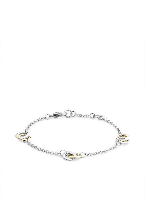Diamond Point Infinity bracelet in 14 multiple colors gold