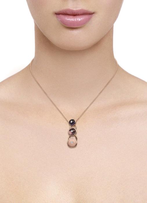 Diamond Point Earth pendant in 18 karat rose gold