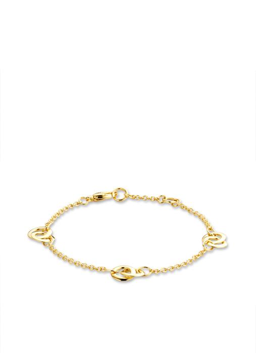 Diamond Point Geelgouden armband Infinity