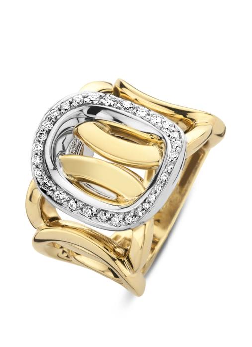 Diamond Point Gouden ring, 0.40 ct diamant, La Dolce Vita