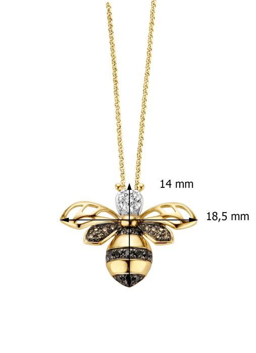 Diamond Point Geelgouden hanger 0.09 ct diamant Queen Bee