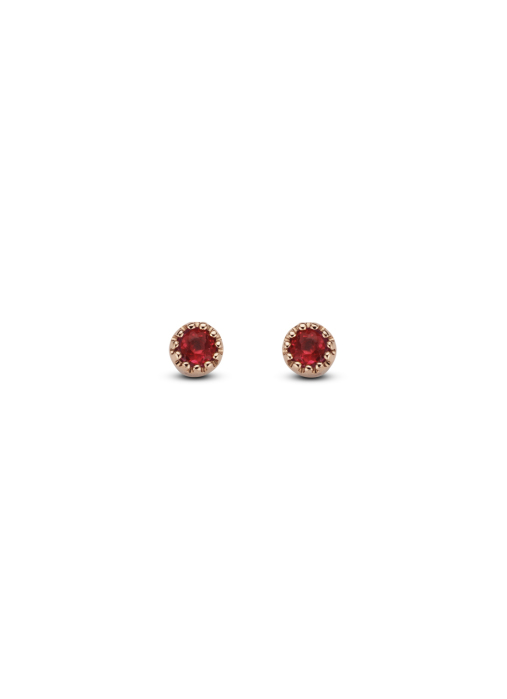 Diamond Point Joy earrings in 14 karat rose gold