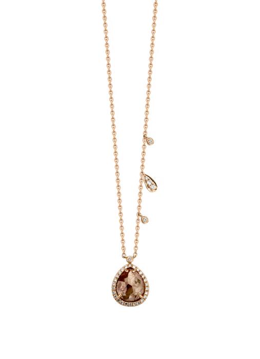 Diamond Point Gloria Halskette in 14K Roségold
