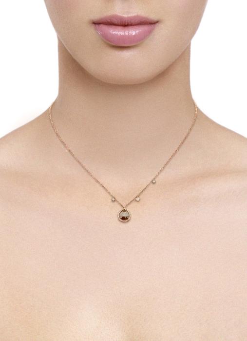 Diamond Point Roségouden collier 1.66 ct diamant Indian Summer