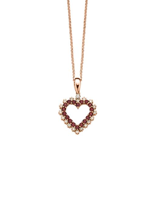 Diamond Point Birthstones pendant in 14 karat rose gold