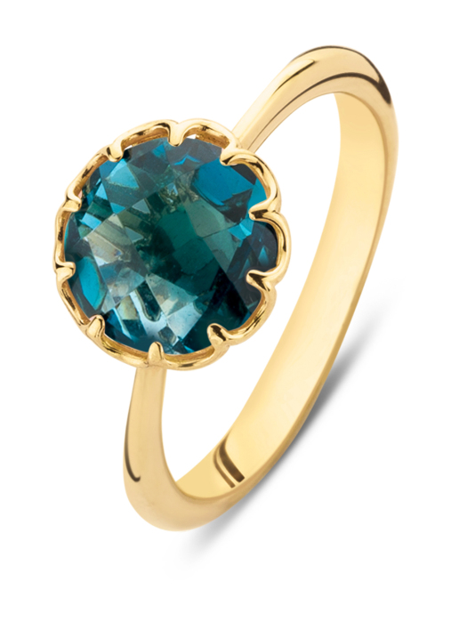 Diamond Point Earth ring in 18 karat yellow gold