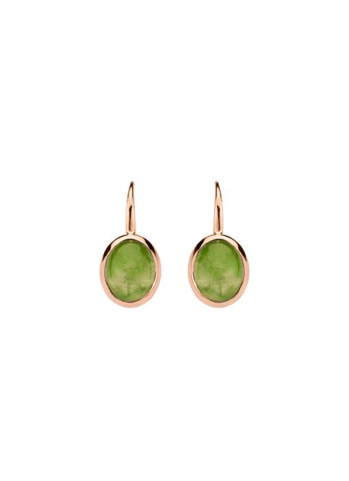 Diamond Point Little drops earrings in 14 karat rose gold