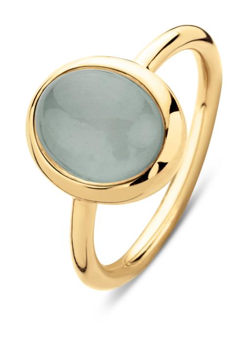 Diamond Point Geelgouden ring, 2.00 ct aquamarijn, Little Drops