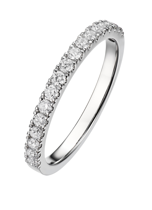 Diamond Point Witgouden ring 0.33 ct diamant Wedding