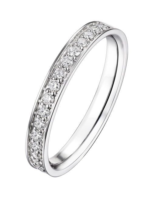 Diamond Point Wedding Ring in 14K Weißgold