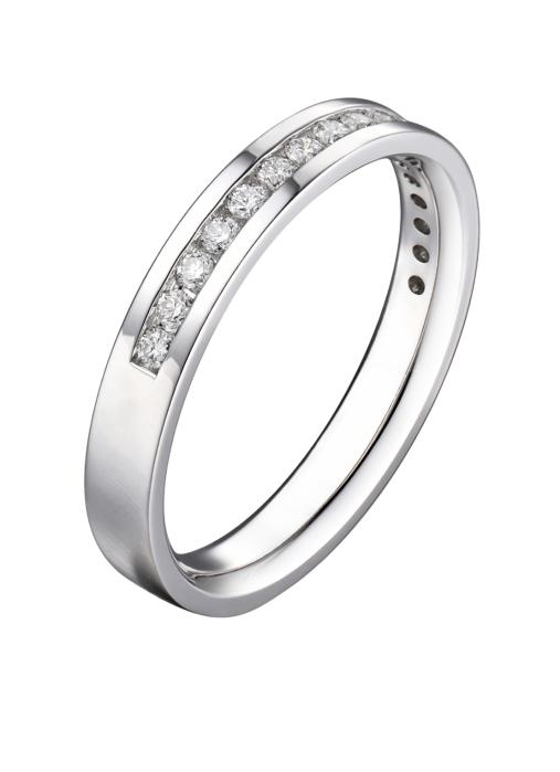 Diamond Point Wedding Ring in 14K Weißgold