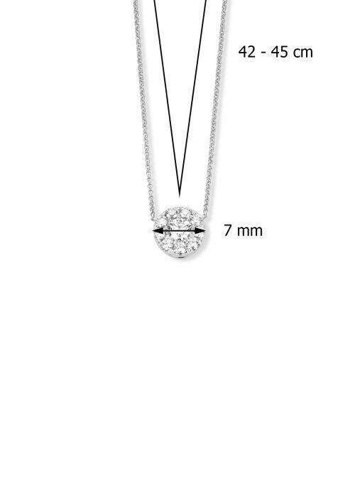 Diamond Point Witgouden hanger, 0.30 ct diamant, Hearts & Arrows