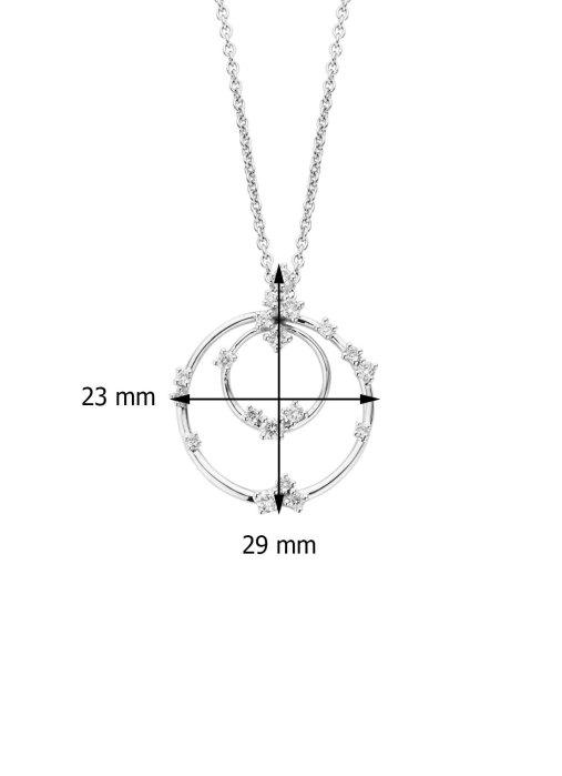 Diamond Point Caviar pendant in 14 karat white gold