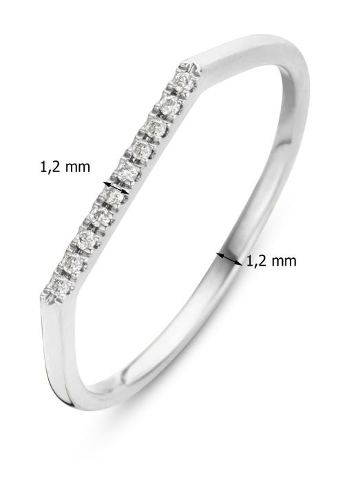 Diamond Point Witgouden ring 0.04 ct diamant Joy