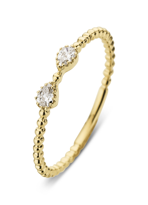 Diamond Point Joy Ring in 14K Gelbgold