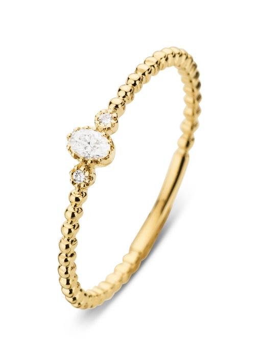 Diamond Point Joy Ring in 14K Gelbgold