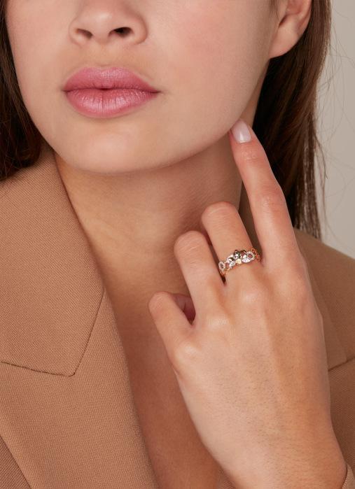 Diamond Point Gouden ring, 0.07 ct citrien, Queen Bee