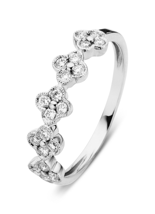 Diamond Point Witgouden ring 0.28 ct diamant Since 1904
