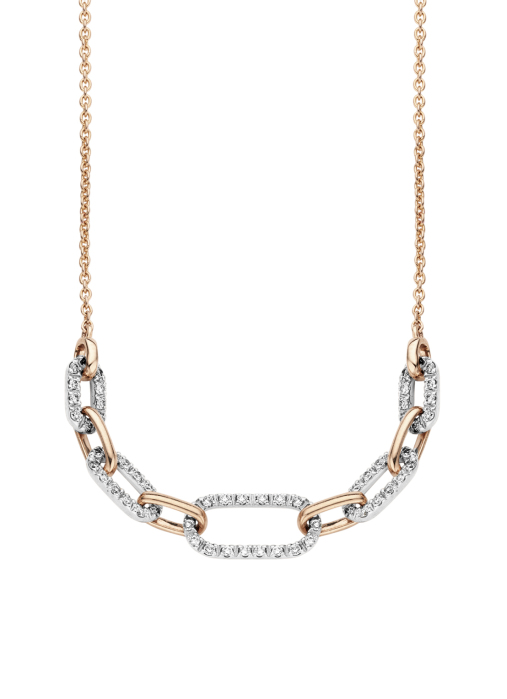 Diamond Point Alliance necklace in 14 multiple colors gold