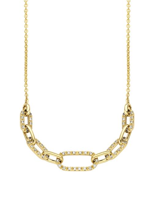 Diamond Point Alliance necklace in 14 karat yellow gold