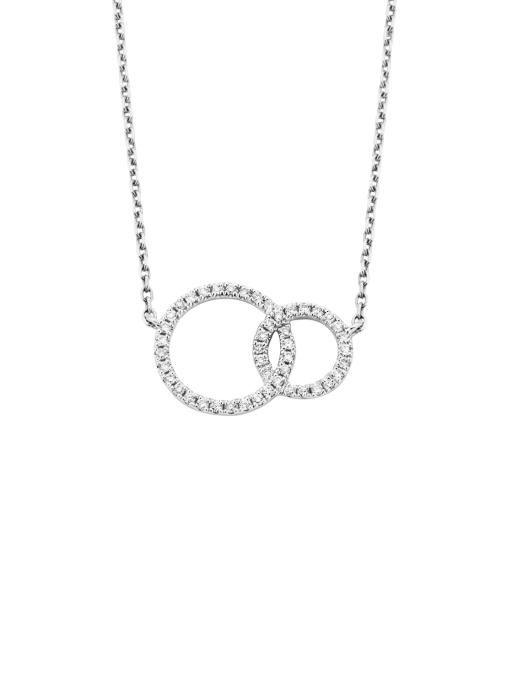 Diamond Point Symbols necklace in 14 karat white gold