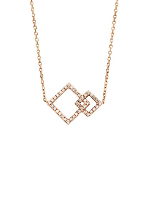 Diamond Point Roségouden collier, 0.13 ct diamant, Symbols