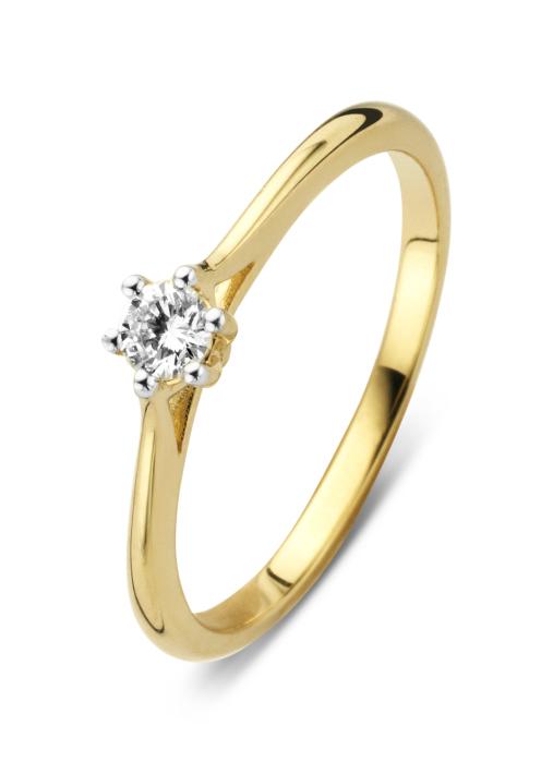 Diamond Point Gouden ring 0.15 ct diamant Starlight