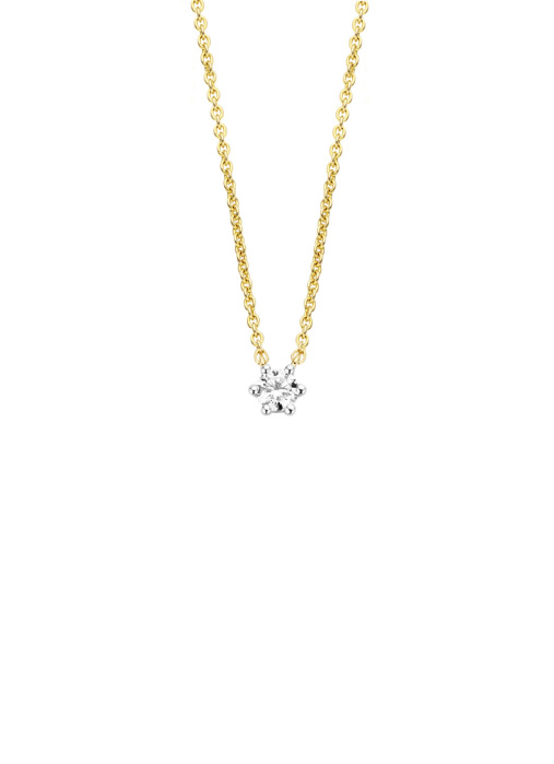Diamond Point Gouden collier 0.15 ct diamant Starlight