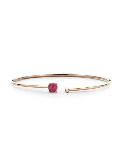 Diamond Point Rose gold bracelet Jolie (M)