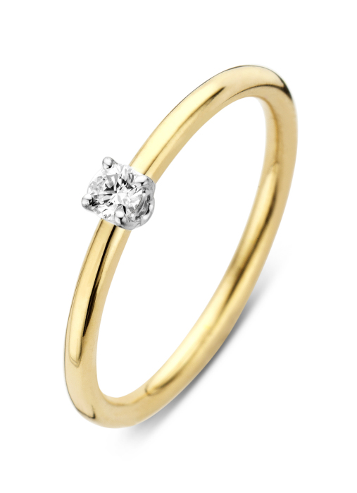 Diamond Point Jolie ring in 18 karat yellow and whitegold