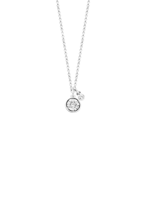 Diamond Point Birthstones pendant in 14 karat white gold