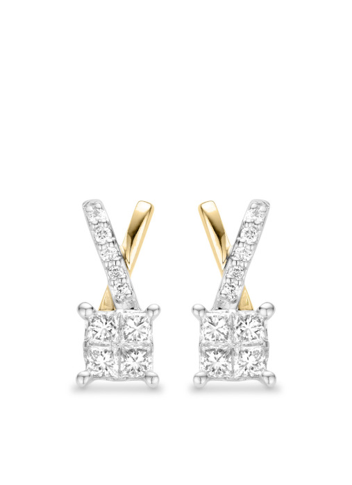 Diamond Point Gouden oorsieraden, 0.54 ct diamant, Fourever