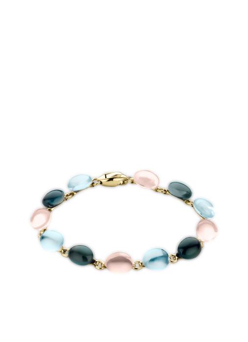 Diamond Point Little drops bracelet in 14 karat yellow gold