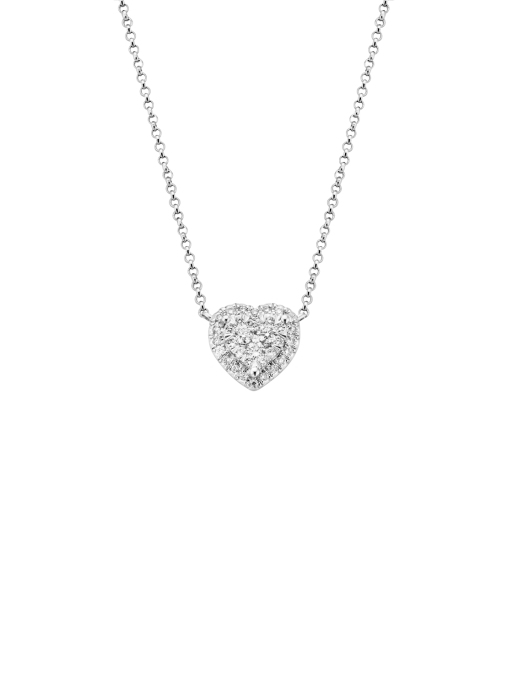 Diamond Point Witgouden collier, 0.30 ct diamant, Enchanted