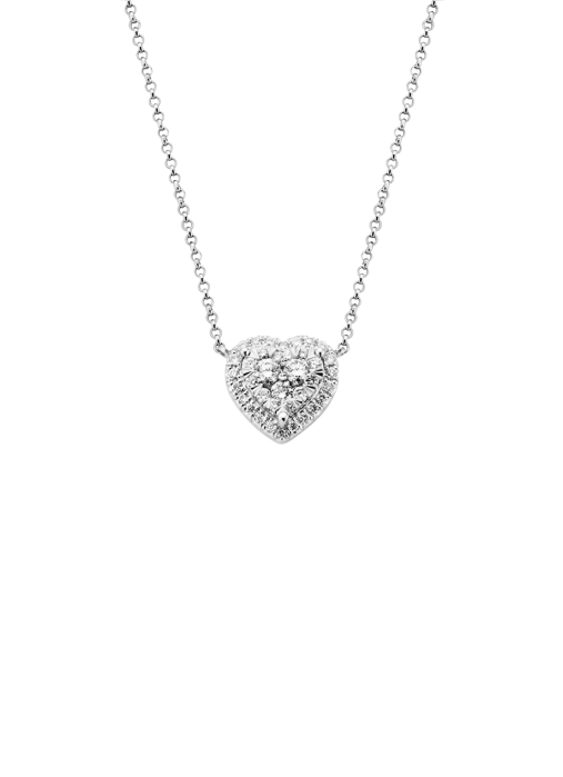 Diamond Point Witgouden collier, 0.39 ct diamant, Enchanted