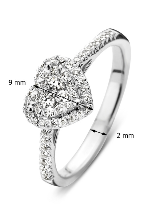 Diamond Point Witgouden ring 0.37 ct diamant Enchanted