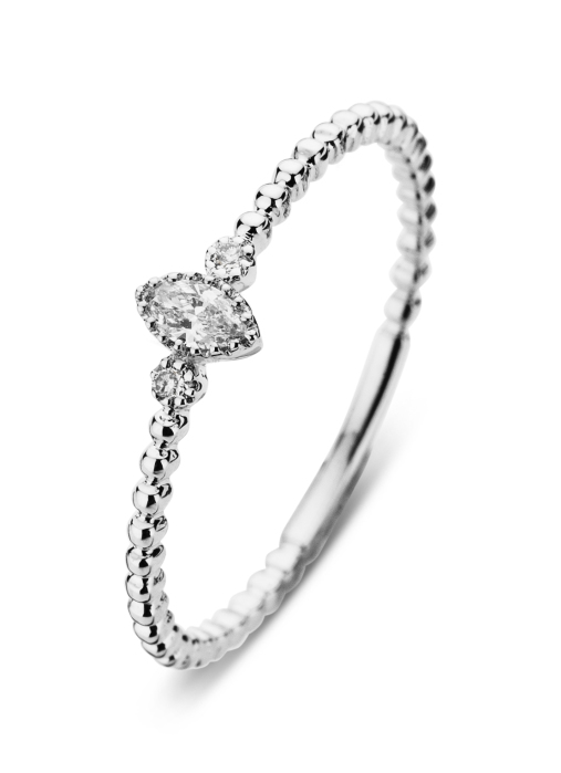 Diamond Point Joy ring in 14 karat white gold