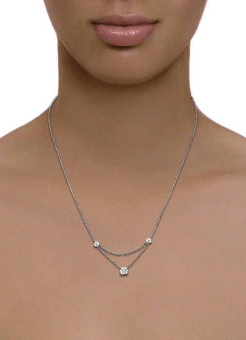 Diamond Point Enchanted necklace in 14 karat white gold