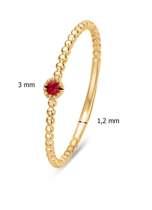 Diamond Point Joy ring in 14 karat yellow gold