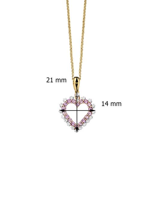 Diamond Point Birthstones gouden hanger Februari