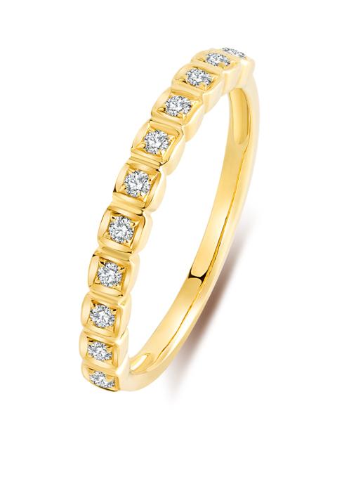 Diamond Point Geelgouden ring, 0.16 ct diamant, Alliance