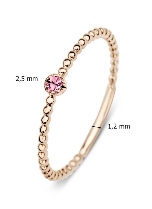 Diamond Point Joy ring in 14 karat rose gold