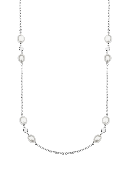 Diamond Point Gallery necklace in 18 karat white gold