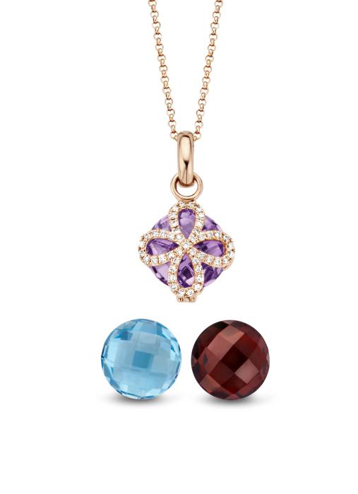 Diamond Point Varié pendant in 14 karat rose gold
