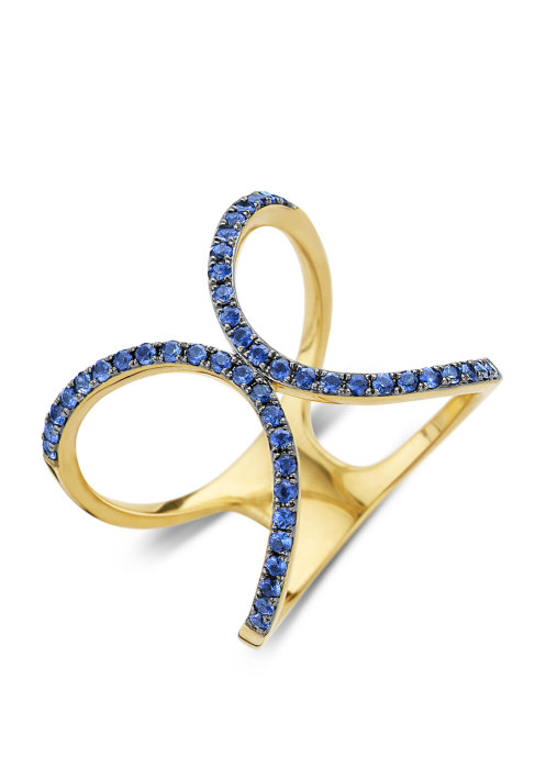 Diamond Point Like a star ring in 14 karat yellow gold