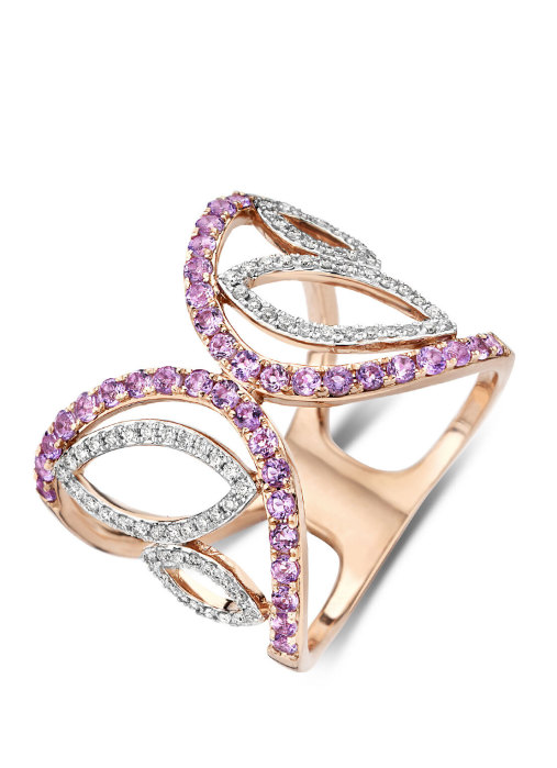 Diamond Point Like a star ring in 14 karat rose gold