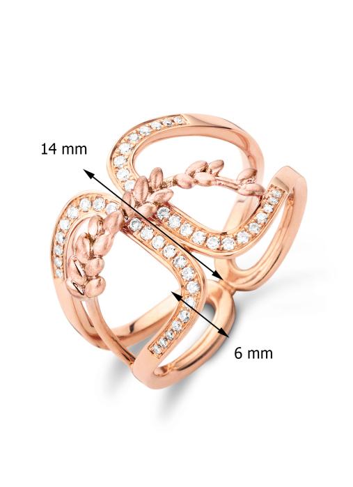 Diamond Point Roségouden ring, 0.17 ct diamant, Lavender